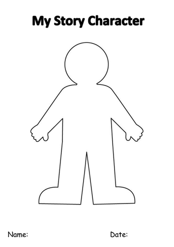 Creating A Character Worksheet : Create a character template by enp teaching resources