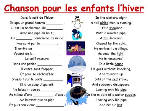 Chanson pour les enfants l 39 hiver by jule955 teaching resources tes - Couvrir arbuste pour l hiver ...