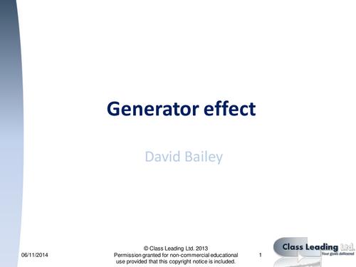 Generator effect - graded questions