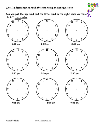 reading analogue clocks solve time word problems by jamessummerfield teaching resources. Black Bedroom Furniture Sets. Home Design Ideas