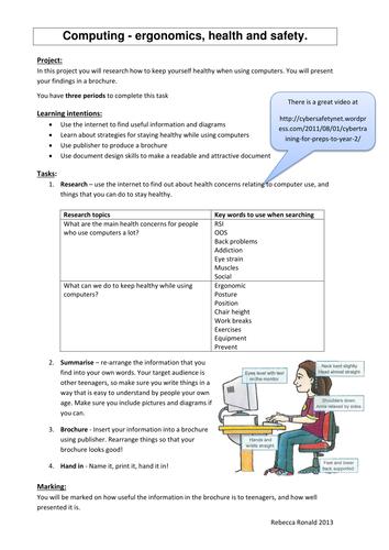 Ergonomics research and presentation task