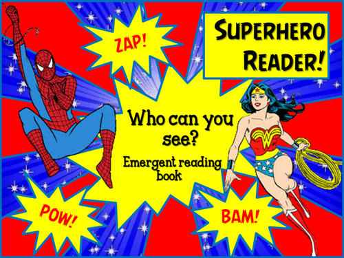 Superhero reading book by choralsongster - Teaching ...