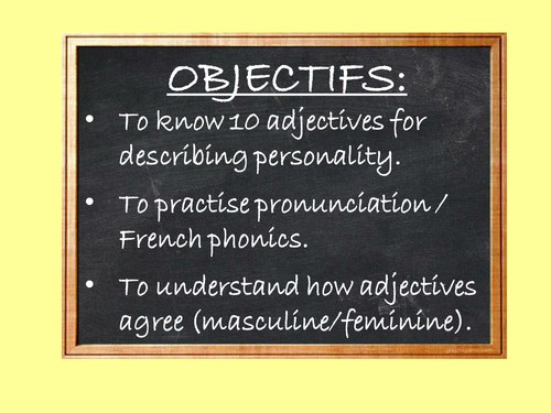 Personality adjectives - Y7