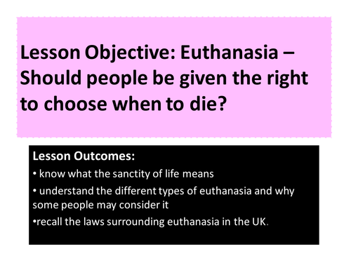 the right to choose euthanasia