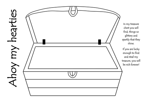 treasure chest lock coloring pages - photo#23