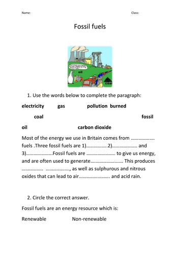 Renewable and non-renewable energy by Prema108 | Teaching Resources