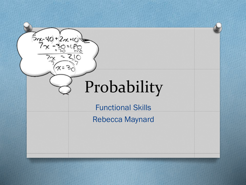 Functional Skills Probability by rebekahmaynard - Teaching ...