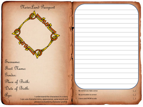 Character passport worksheet Character analysis by Maximus26 – Character Profile Worksheet
