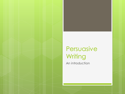 Persuasive Writing- Intro (Using Teacher's TV vid)