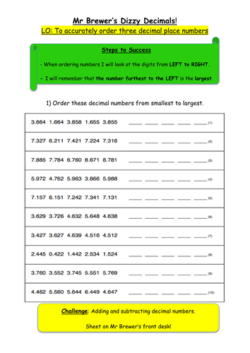 Ordering 3 decimal place numbers by ryan brewer teaching resources ordering 3 decimal place numbers by ryan brewer teaching resources tes ibookread