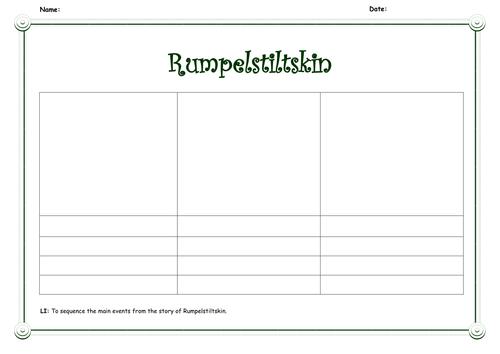 Differentiated Rumpelstiltskin Sequencing Sheets