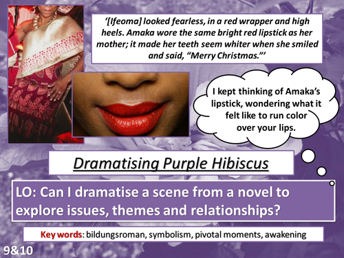 Gcse Literature Purple Hibiscus By A Chancer Teaching Resources