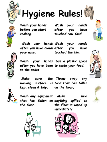 Hygiene Rules In The Kitchen By Takim Teaching Resources