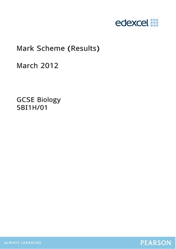 Searchable Edexcel Biology Papers and Mark Schemes