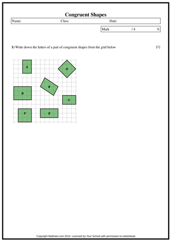 Halloween Spelling Worksheets Congruent Shapes By Maffsy  Teaching Resources  Tes Fractions Of Sets Worksheets Excel with Similar Polygons Worksheet Excel  Periodic Table Scavenger Hunt Worksheet With Answers Word