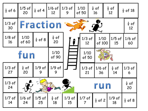 Fraction Fun Run Game