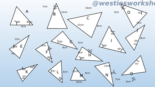 Congruent triangles Matching activity by supergenau Teaching – Congruent Triangles Worksheet