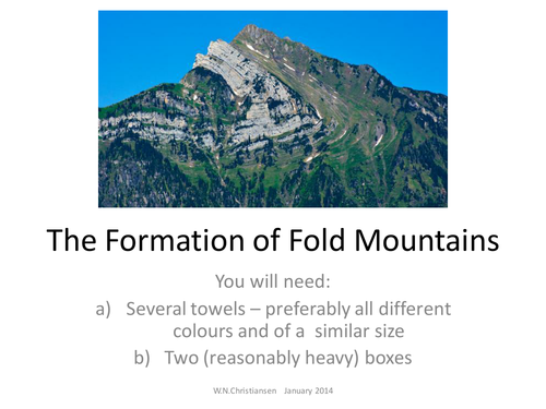 How are fold mountains formed primary homework help