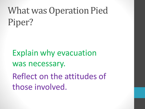 Why did the evacuation occur?