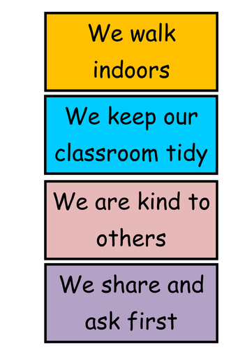 Behaviour display and classroom rules