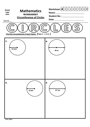 year 6 circumference of circles worksheet by jinkydabon teaching resources tes. Black Bedroom Furniture Sets. Home Design Ideas