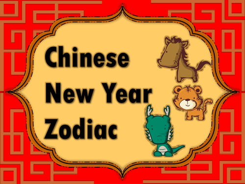 chinese zodiac animals and characteristics by choralsongster teaching resources tes - Chinese New Year 2008