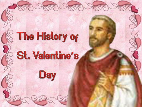 the history of st valentines day by choralsongster teaching resources tes