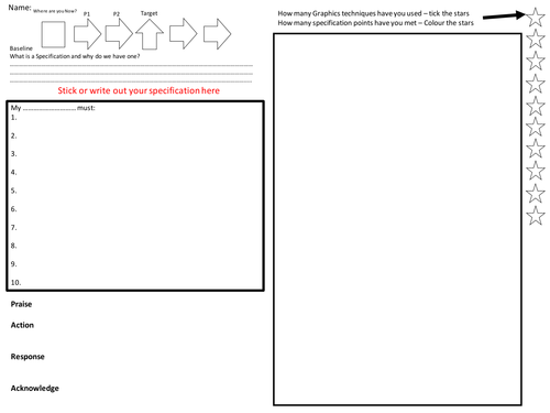 Specification and Design Ideas Worksheet