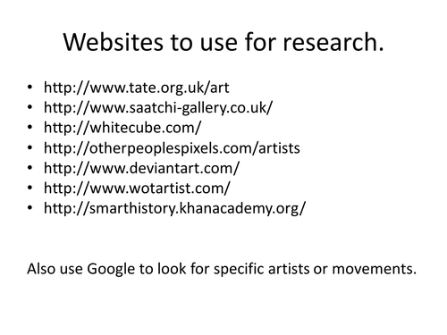 Order and or disorder artist ideas for yr 11 exam