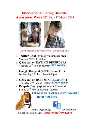 International Eating Disorder Awareness Week 2014