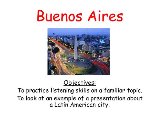 Describing amazing latin american cities