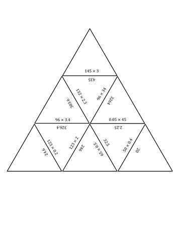 Multiplying Decimals Tarsia (Word Doc.) by elaw0102