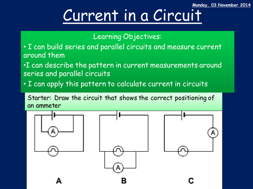 Investigating current in a circuit