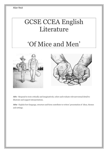 Of Mice and Men Analysis booklet