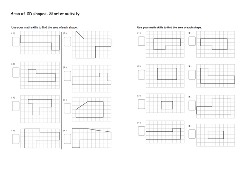 Area of basic shapes Worksheet KS3 by Tristanjones Teaching – Basic Shapes Worksheets