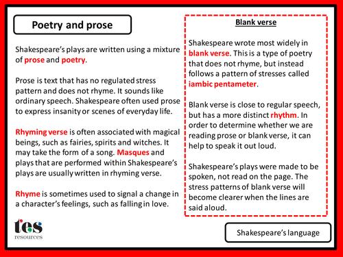 Shakespeare starter kit