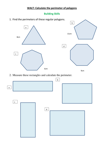 3 differentiated perimeter worksheets for Y4 D2 by clangercrazy ...