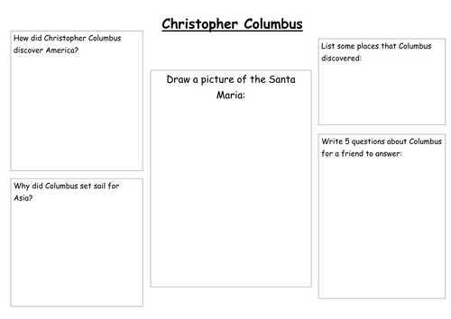 Christopher Columbus Activities by pwild1 Teaching Resources TES – Christopher Columbus Worksheets
