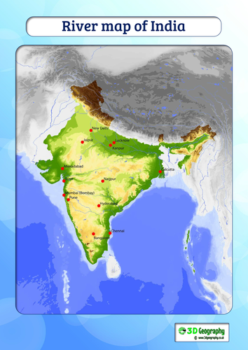 Rivers map of india by idj teaching resources tes gumiabroncs Choice Image