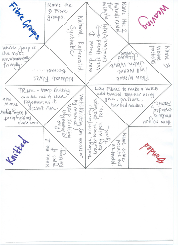 Fortune Teller Origami Quiz Revision Activity By Rikrak Teaching