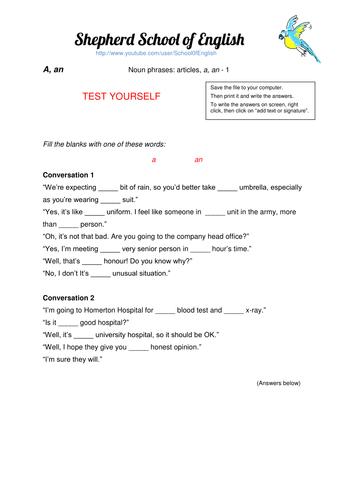 a/an worksheet
