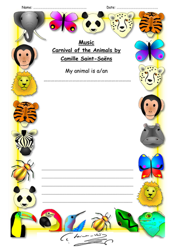 Saint-Saens and the Carnival of the Animals