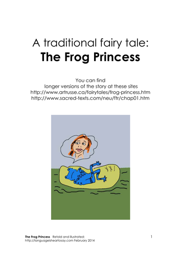 Traditional tale - The Frog Princess