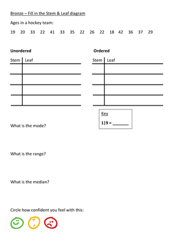 stem and leaf worksheet pdf