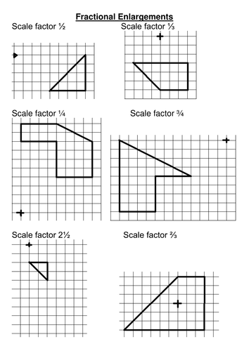 Enlargement with a fractional scale factor by rhiannonwates ...
