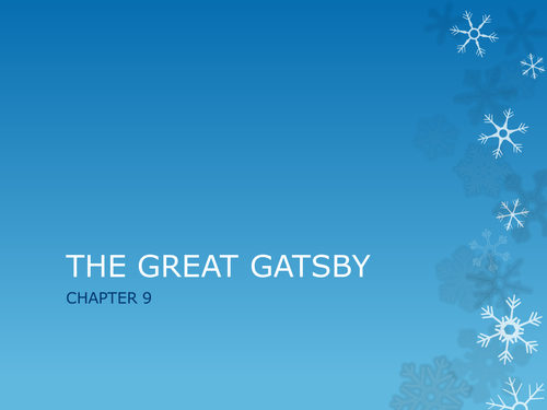 The Great Gatsby - Powerpoints