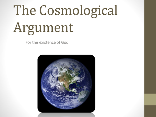 aristotle introduced the cosmological argument
