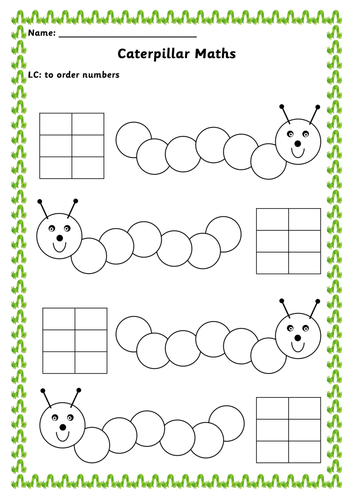 Ordering numbers caterpillars by renosparks teaching resources tes ibookread ePUb
