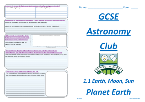 GCSE Astronomy (Edexcel) workbooks