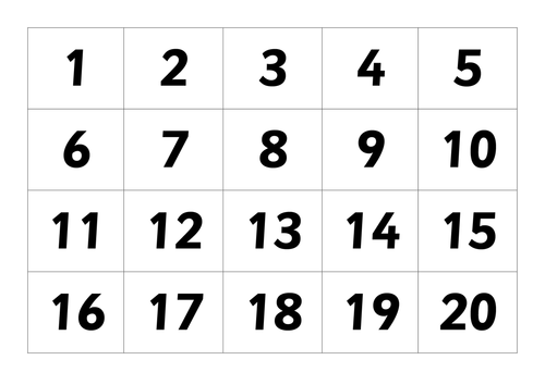 Irresistible image throughout free printable numbers 1-20